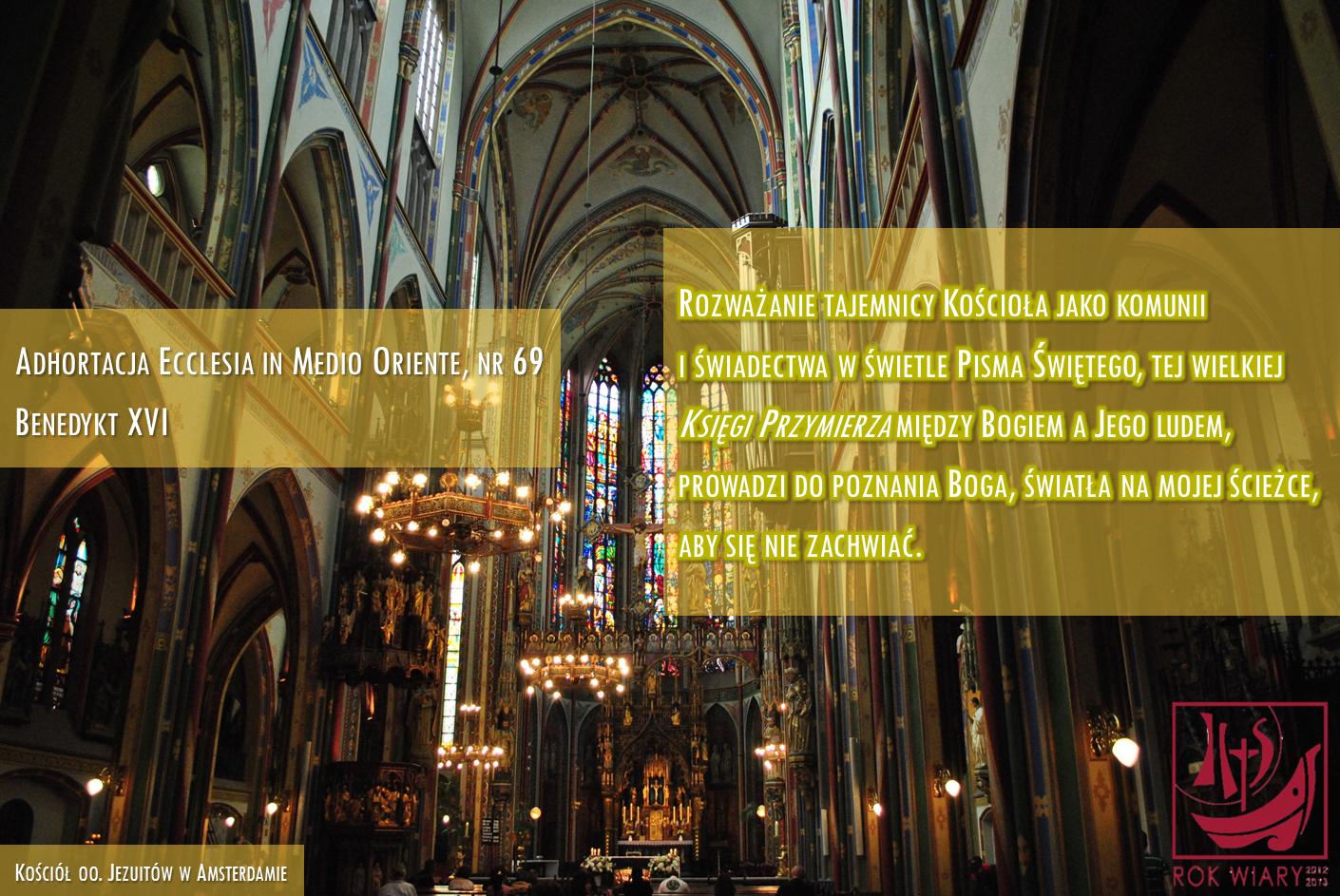 Benedykt XVI - Ecclesia in Medio Oriente, 69