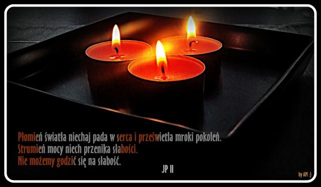 Płomień światła...