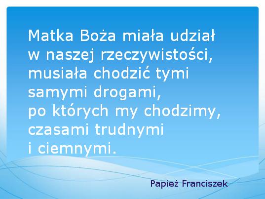 Papież Franciszek na Nowy Rok.