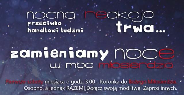 Nocna re-akcja TRWA! Zamieniamy noce w MOC miłosierdzia